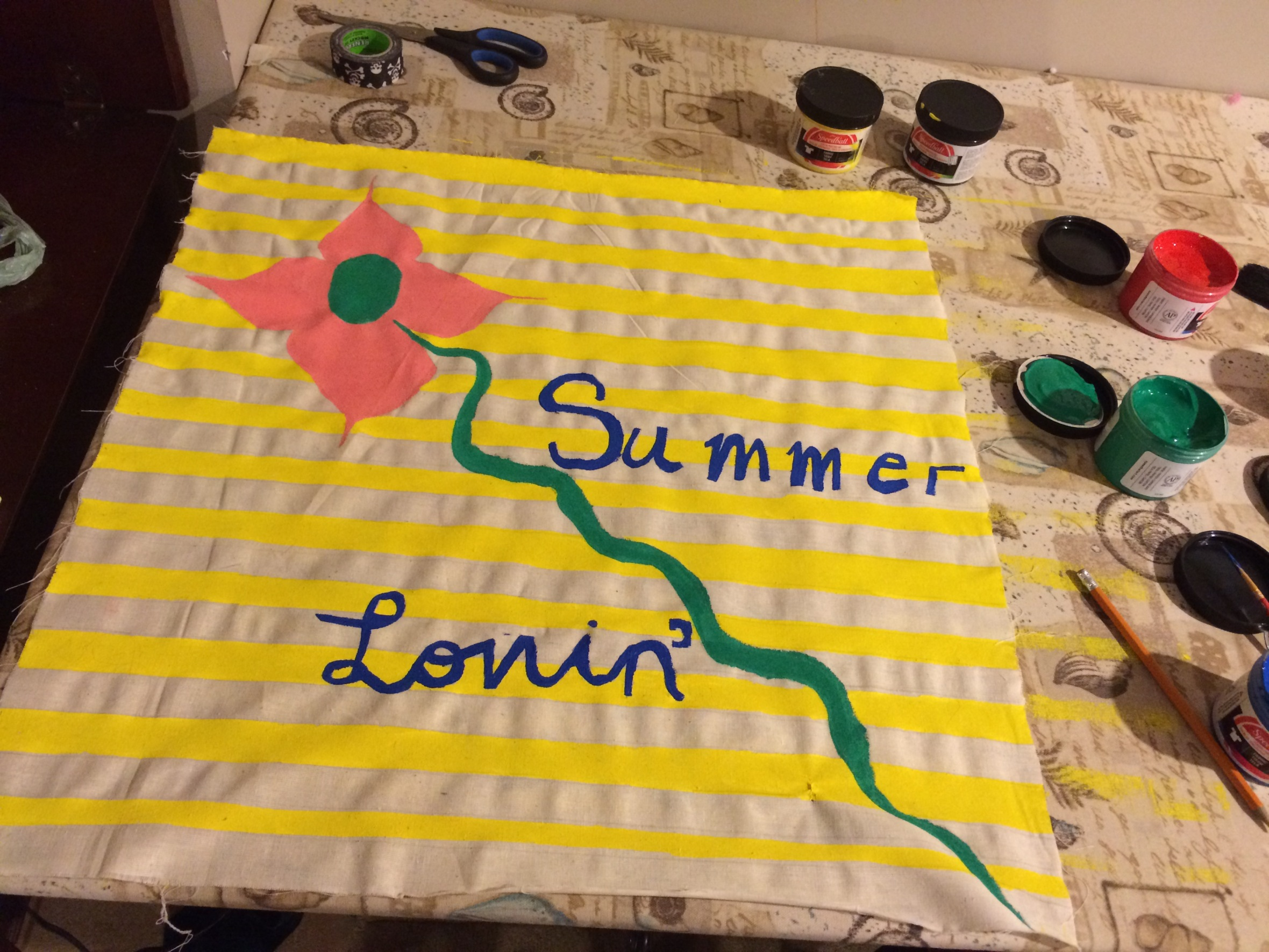 Summer Lovin' Silkscreen Ink+ Muslin